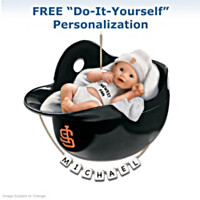 San Francisco Giants Personalized Baby's First Ornament