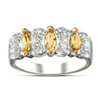 Sophistication Diamond & Yellow Sapphire Ring