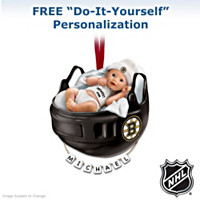 Boston Bruins® Personalized Baby's First Ornament