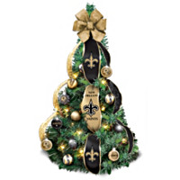 New Orleans Saints Champions Pre-Lit Christmas Tree