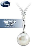 Disney Princess Pearl And Diamond Pendant Necklace
