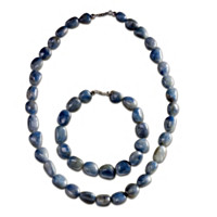 Natural Beauty Sapphire Necklace And Bracelet Set