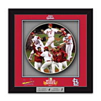 2011 World Series St. Louis Cardinals Shadowbox Plate