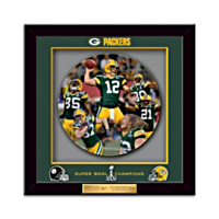 Super Bowl XLV Champions Green Bay Packers Shadowbox Plate