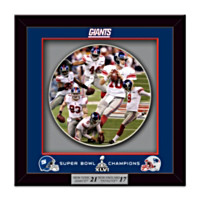 Super Bowl XLVI Champions New York Giants Shadowbox Plate