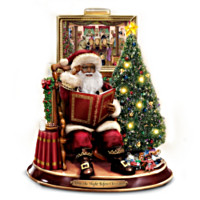Merry Christmas To All Storytelling Santa Sculpture