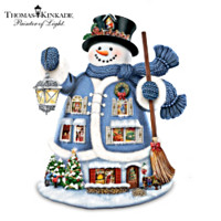 Thomas Kinkade The Night Before Christmas Snowman Figurine