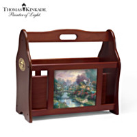 Thomas Kinkade Reading By Lamplight Magazine Rack