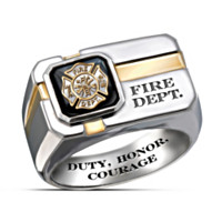 For My Firefighter Men's Ring