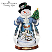 Thomas Kinkade 'Tis The Season To Be Jolly Snowman Figurine