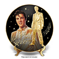Solid Gold Elvis Collector Plate