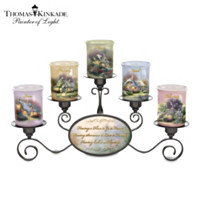 Thomas Kinkade Light Of Home Candleholder Set