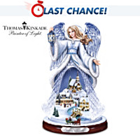 Thomas Kinkade Holiday Reflections Crystal Angel Sculpture