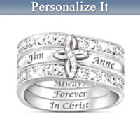 Always Forever In Christ Personalized Ring