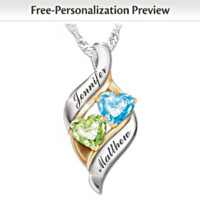 Loving Embrace Personalized Pendant Necklace
