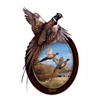 Pheasants In Flight Wall Decor