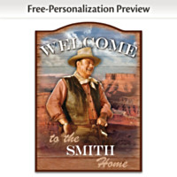 John Wayne Personalized Wall Decor
