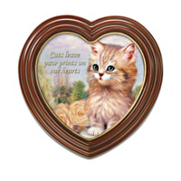 Cats Leave Paw Prints On Our Hearts Wall Decor