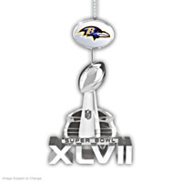 Baltimore Ravens Super Bowl XLVII Championship Ornament