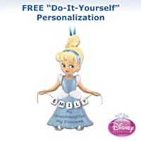 Disney My Princess Of A Granddaughter Personalized Ornament