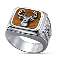 Trophy 10-Point Buck Men's Ring