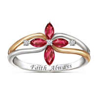The Trinity Ruby And Diamond Ring