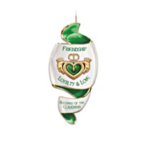 Blessings Of The Claddagh Porcelain Ornament