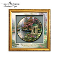 Thomas Kinkade Blessings Of Faith Shadowbox Plate