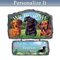 Lovable Dachshunds Personalized Wall Decor
