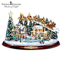 Thomas Kinkade And To All A Good Night Sculpture