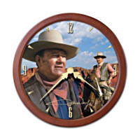 John Wayne Transitioning Stained-Glass Clock