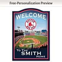 Boston Red Sox Personalized Wall Decor