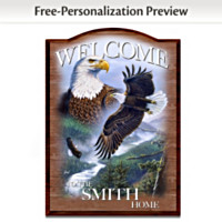 Soaring Guardians Personalized Wall Decor