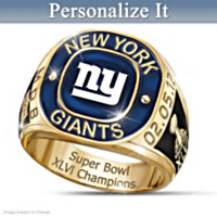 New York Giants Super Bowl Champions Men's Ring