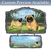 Lovable Pugs Personalized Wall Decor