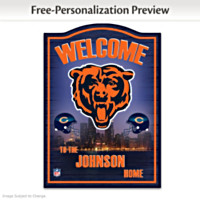 Chicago Bears Personalized Wall Decor