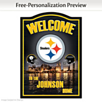 Pittsburgh Steelers Personalized Wall Decor