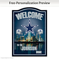 Dallas Cowboys Personalized Wall Decor