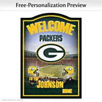 Green Bay Packers Personalized Wall Decor