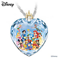 Magic Of Disney Heart Pendant Necklace