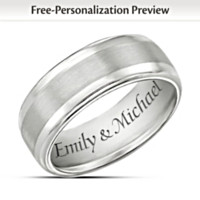 Our Forever Love Personalized Men's Tungsten Ring