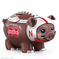 Banking On A Win University Of Nebraska Football Piggy Bank