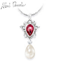 Luminous Allure Pearl Pendant Necklace