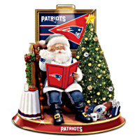 New England Patriots Talking Santa Tabletop Centerpiece