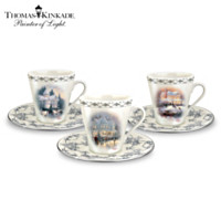 Thomas Kinkade Winter Elegance Teacup & Saucer Set