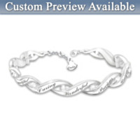 All That You Are Personalized Diamond Bracelet