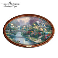Thomas Kinkade Lamplight Bridge Collector Plate
