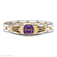 LSU Tigers Stainless Steel Men's Bracelet