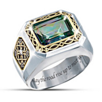 The Legend Of Ireland Mystic Topaz Men's Ring