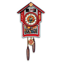 Firefighter Around The Clock Heroes Cuckoo Clock